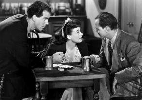 Sie wollen ein Attentat begehen? Fred MacMurray und  Joan Crawford staunen nicht schlecht
