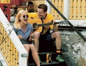 Lustig hier auf der Treppe! Josefin Nilsson und Jakob Erickson