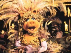 Na, ich bin doch wohl 'ne tolle Tropenschnecke, oder! Miss Piggy in Aktion