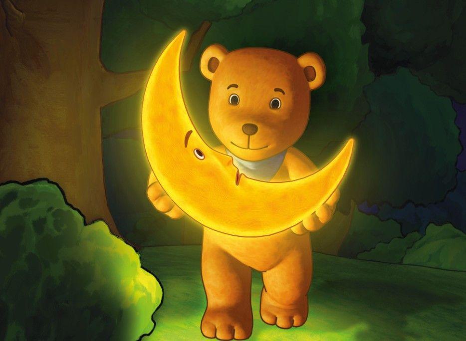 Gute Freunde: Mond und Mondbär
