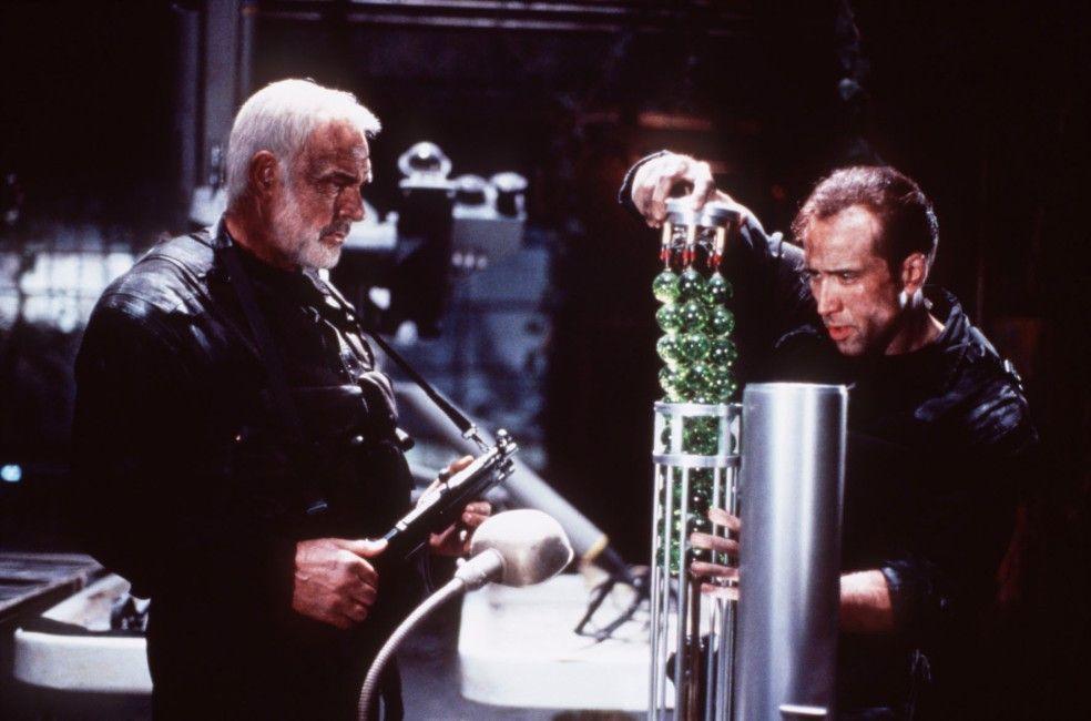 Mason (Sean Connery, l.) und Goodspeed (Nicolas Cage) wollen die Raketen entschärfen