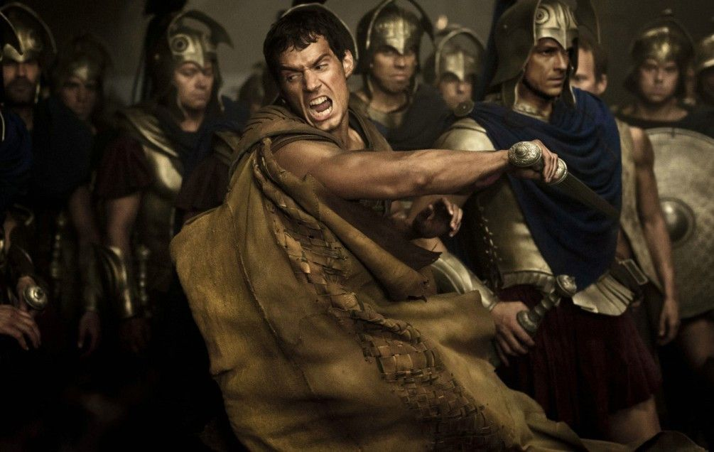 Mutige Mannen kämpfen gegen Titanen