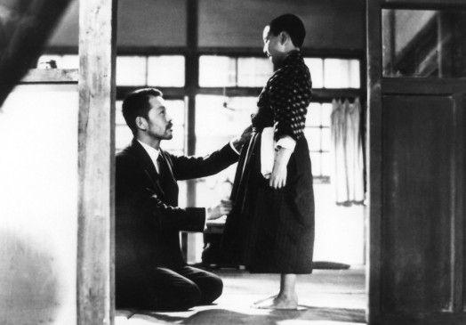 Noch sind sie zusammen: Vater (Chishu Ryu) und Sohn (Haruhiko Tsuda)