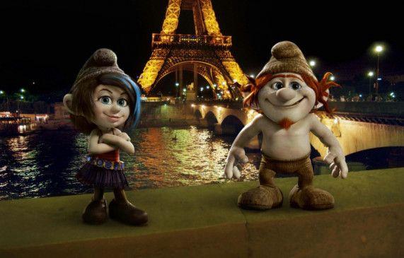 Graue Schlümpfe bevölkern Paris