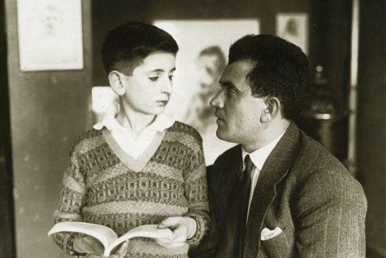 Expressionistischer Schauspiel-Gigant: Alexander Granach mit Sohn Gad 1925 in Berlin