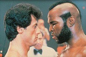Schau mir in die Augen, Kleiner! Sylvester  Stallone und Mr. T scheinen sich nicht gern zu  haben