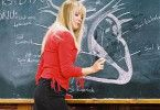 Uiii, wer hätte nicht gern ein solche Lehrerin? Die Schüler freut's