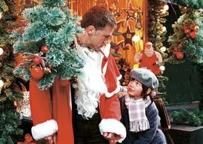 Du meinst also, ich sei ein blöder Weihnachtsmann? Christoph Waltz und Nikita Wokurka