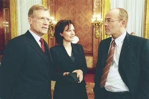 Bei uns ist immer was los! Robert  Atzorn, Maja Maranow und Heiner Lauterbach (v.l.)