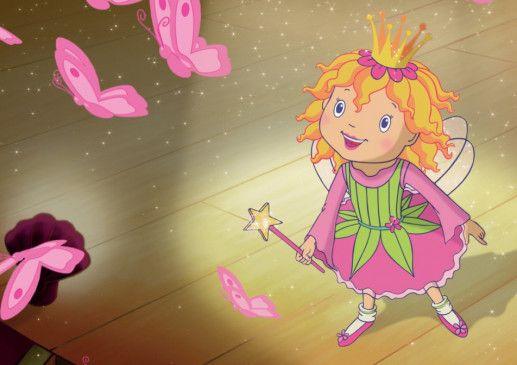 Prinzessin Lillifee genießt die rosa Feenwelt