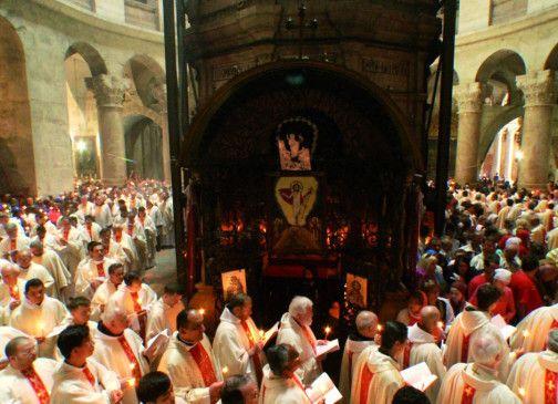 Feierlichkeiten der Franziskaner am Palmsonntag