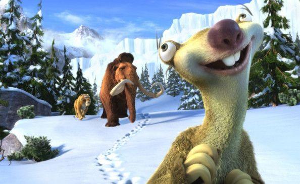 Schöner blauer Himmel: Sid unterwegs mit seinen Freunden