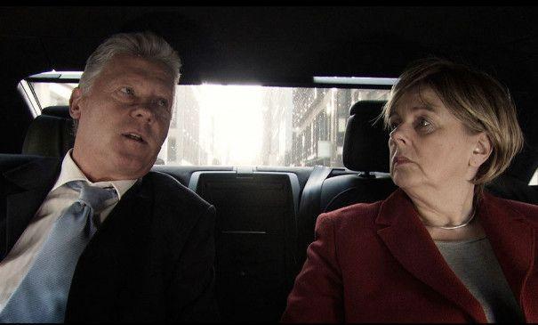 Original oder Fälschung? Lothar Wunderlich als Bill Clinton und Susanne Knoll als Angela Merkel