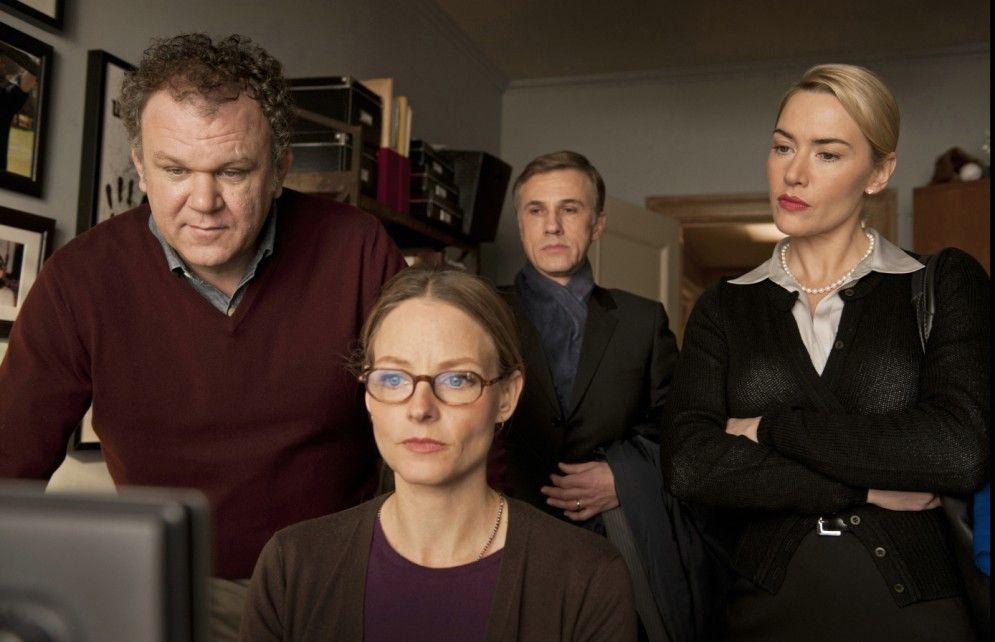 Noch ist alles ruhig: John C. Reilly, Jodie Foster, Christoph Waltz und Kate Winslet (v.l.)
