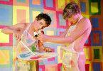 Narcissus (Don Brooks, l.) und Pan (Bobby Kendall) lassen mal wieder alle Hüllen fallen