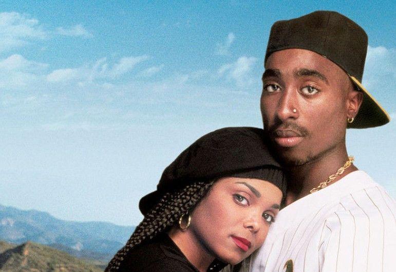 Star-Rapper Tupac Shakur mit Janet Jackson