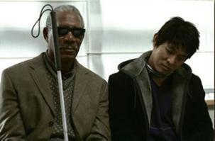 Der blinde Meister und sein neuer Schüler: Morgan Freeman und Jet Li