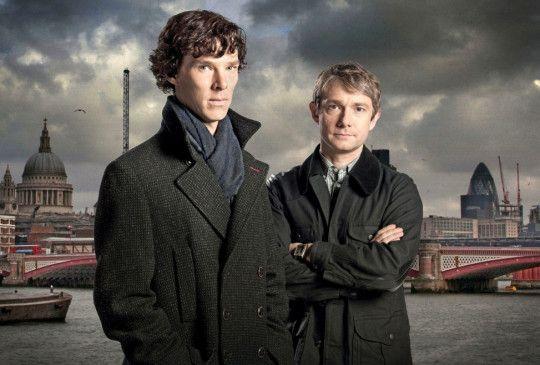 Starke Partner: Sherlock Holmes (Benedict Cumberbatch, l.) Dr. Watson (Martin Freeman)