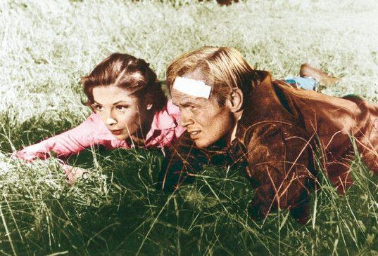 Sei mal still, da sind die Nazis! Richard Widmark   und Jane Greer