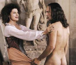 Ganz schön freizügig: Vincent Pérez mit Fanny Ardant