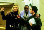 Opfer galaktischer Bürokratie: Sam Rockwell, Mos Def, Martin Freeman (v.l.)