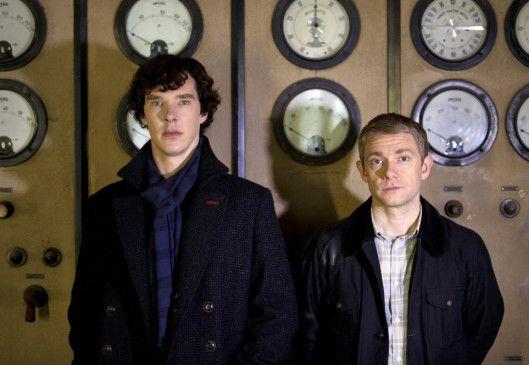 Ein starkes Team: Benedict Cumberbatch (l.) und Martin Freeman als Sherlock Holmes und Dr. Watson.