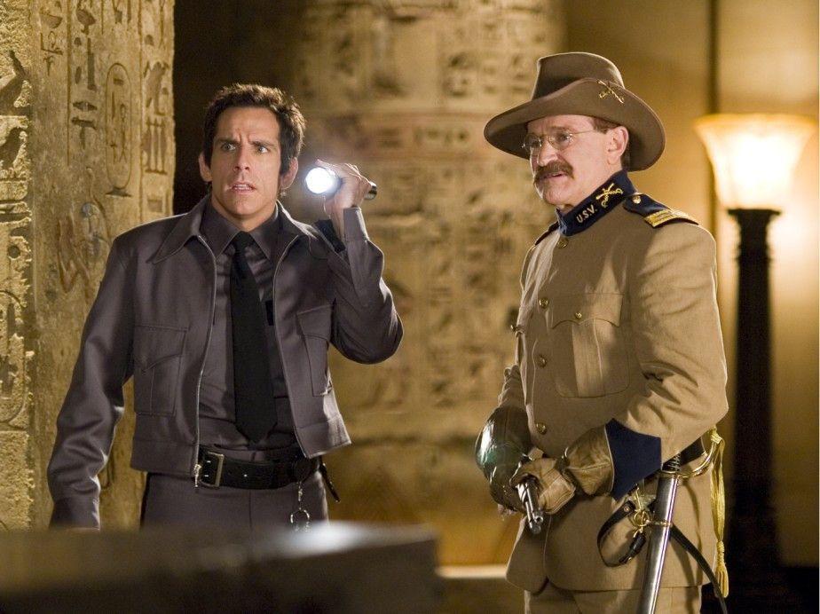 Ob Theodore Roosevelt helfen kann? Ben Stiller (l.) mit Robin Williams