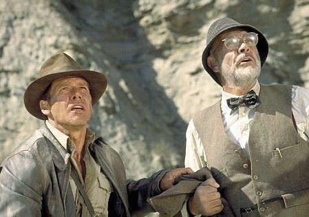 Vater, halt doch mal die Klappe! Harrison Ford (l.) und Sean Connery