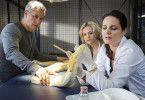 Tierärztin Dr. Mertens (Elisabeth Lanz) untersucht den Python, der anscheinend im Zoo ausgesetzt wurde.
