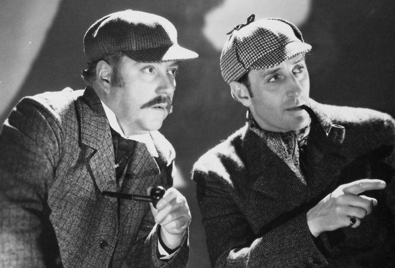 Sie lösen jeden Fall: Basil Rathbone (r.) und Nigel Bruce als Holmes und Watson