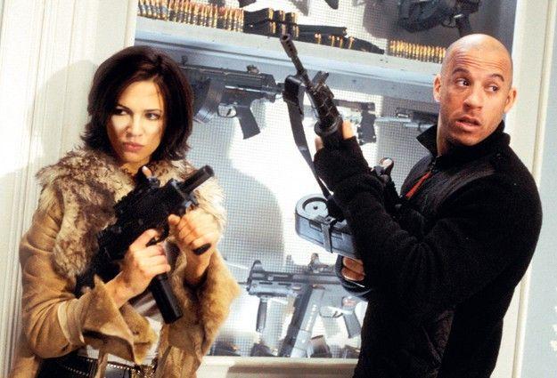 Sollen wir jetzt los ballern? Vin Diesel mit Asia Argento