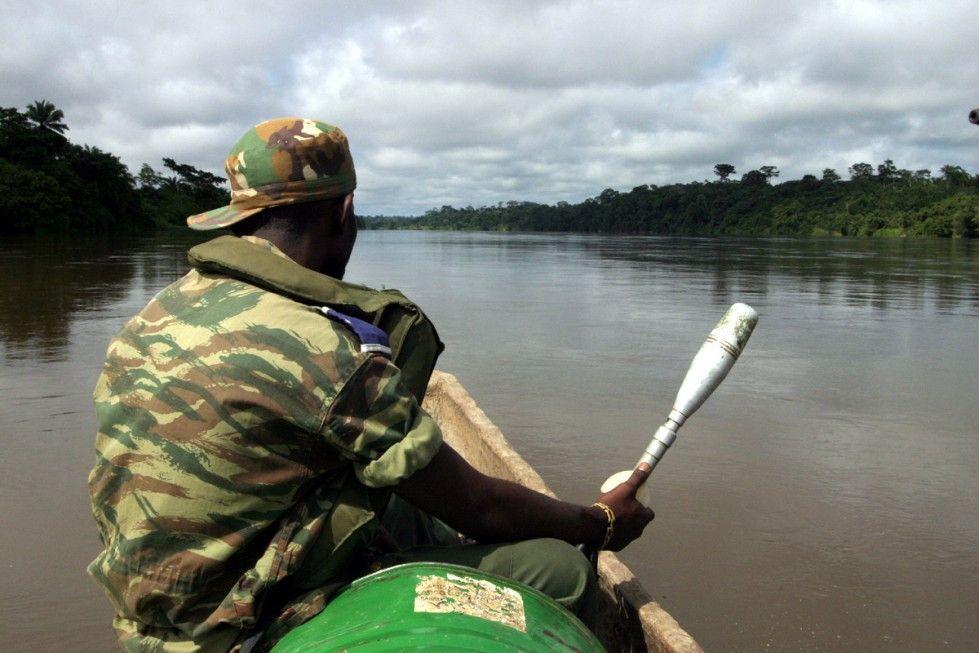 Unterwegs auf dem riesigen Fluss