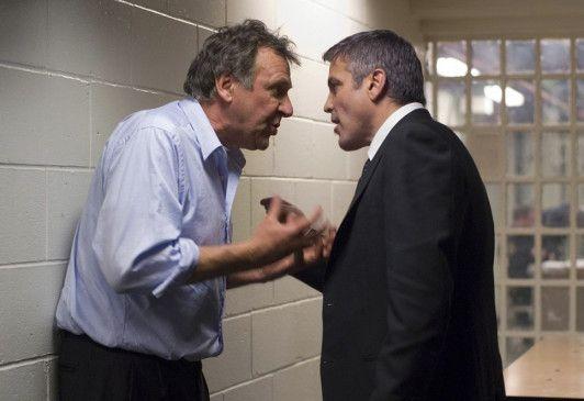 Kollegen oder Widersacher? Tom Wilkinson (l.) und George Clooney