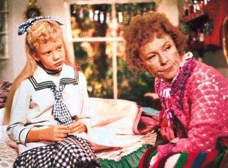 Pollyanna (Hayley Mills) mit ihrer Tante (Jane Wyman)