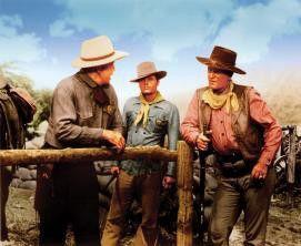 Wer hat denn mein Pferd geklaut? John Wayne (r.) sucht Comancheros