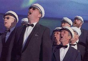 Singen bringt Freude! Der Männerchor bei seiner  Lieblingsbeschäftigung