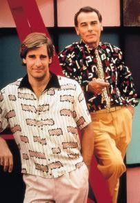 """""""Schickes Hemd, Sam! - Zeitreisender Scott Bakula  (l.) und Dean Stockwell"""