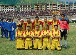 Bhutan in Gelb-Rot-Laune