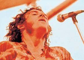 Der noch junge Joe Cocker auf dem Festival von Woodstock
