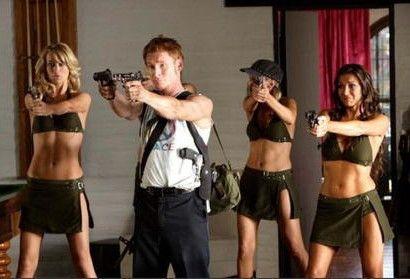 Zack Ward mit schmucker Truppe