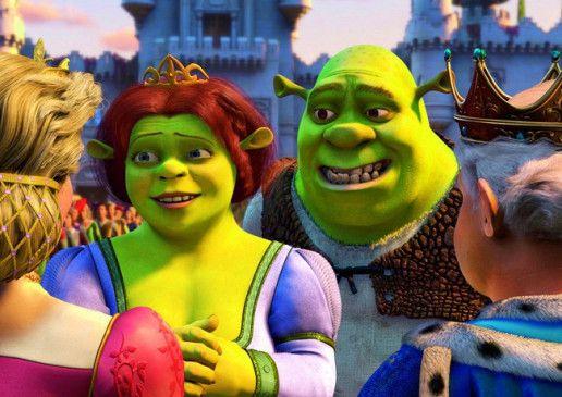 Frisch verheiratet: Shrek und seine Prinzessin Fiona