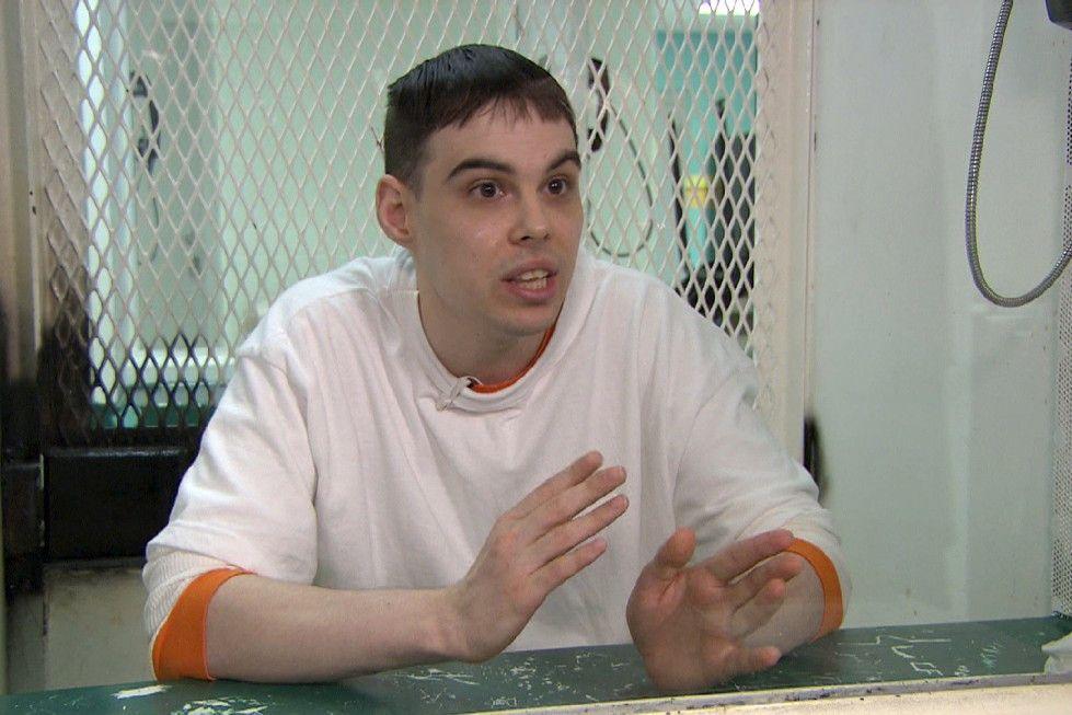 Der dreifache Mörder Michael Perry kurz vor seiner Hinrichtung