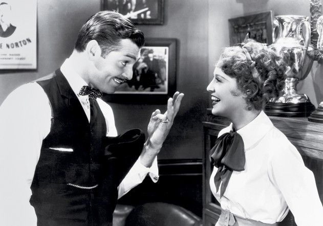Grinsen kann ich doch gut, oder? Clark Gable mit  Jeanette MacDonald