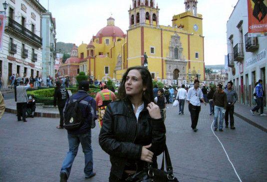 Freudig erregt: Irina in Mexico