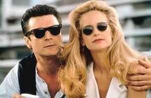 Also, ich finde unsere Sonnenbrillen cool! Patrick Bergin und Kelly Preston