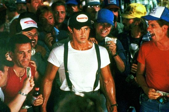 Auf zum Armdrücken! Sylvester Stallone