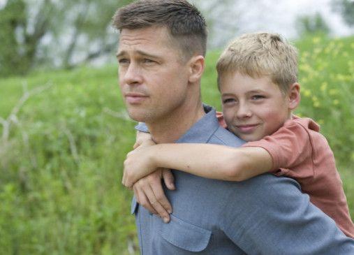 Huckepack: Brad Pitt als Vater