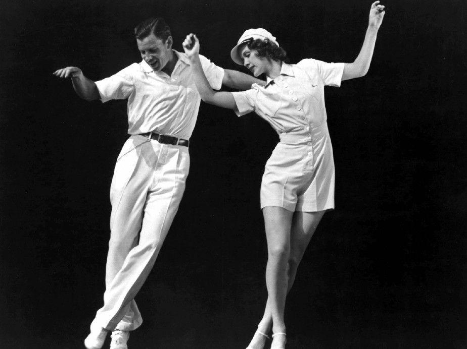 Sally (Eleanor Powell) und Sonny <br>(George Murphy) üben für ihr Debüt am Broadway
