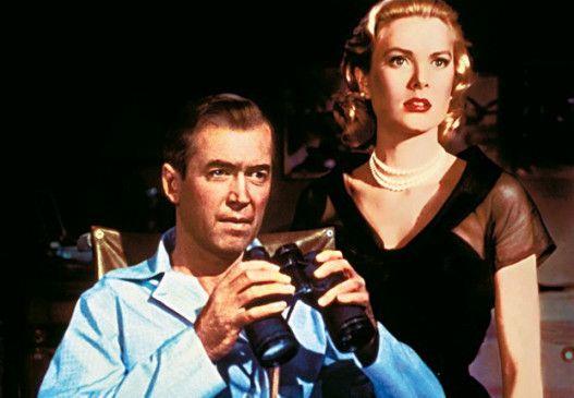Wenn meine Linse stimmt, hat da ein Nachbar einen Mord  begangen! James Stewart und Grace Kelly.