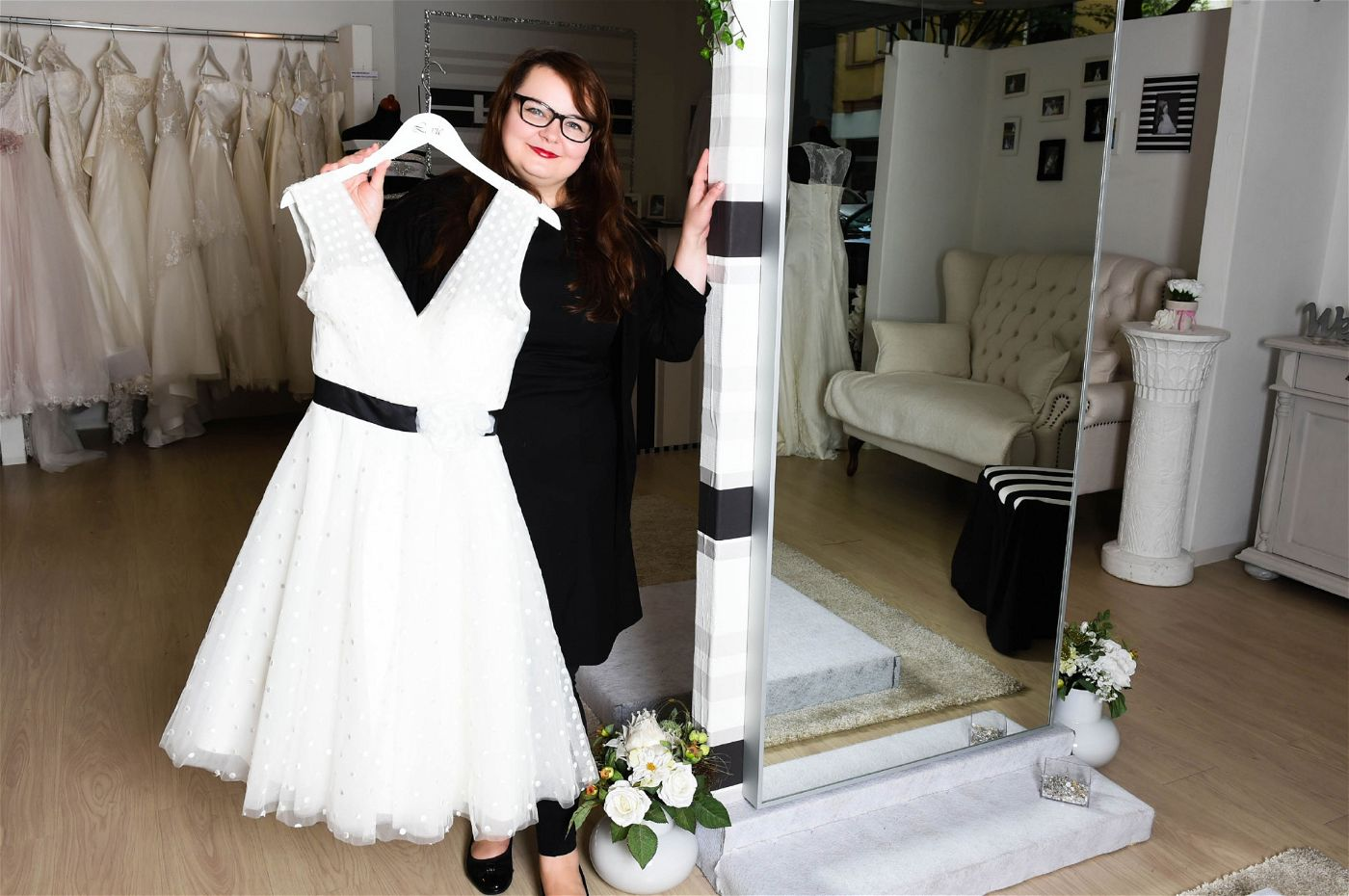 """Manuela führt das Geschäft """"Lavie"""" in Bochum."""